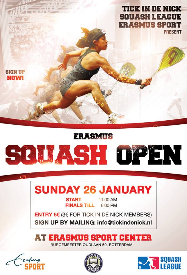 Squash League Poster Erasmus Open